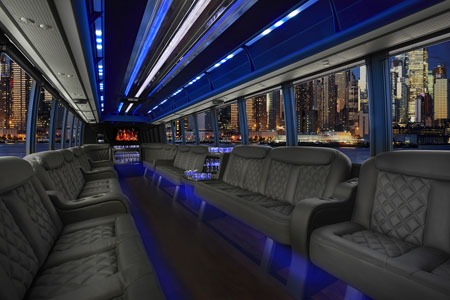 Inside Party Bus picture Limo Bus Interior